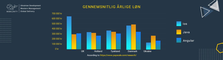 Gennemsnitlig årlige løn