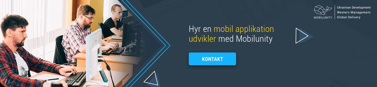 hyr mobil applikation udvikling